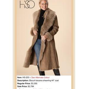 Jackets & Blazers - Hiso Long Genuine Toscana Shearling Coat